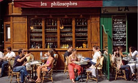 Cafe Terrace on Rue Vieille du Temple