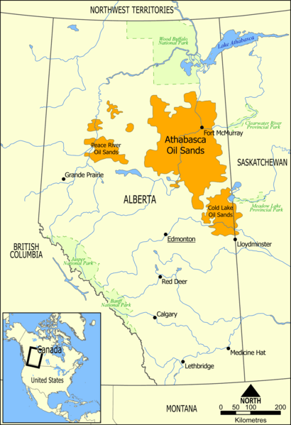 peace river oilsands deposits