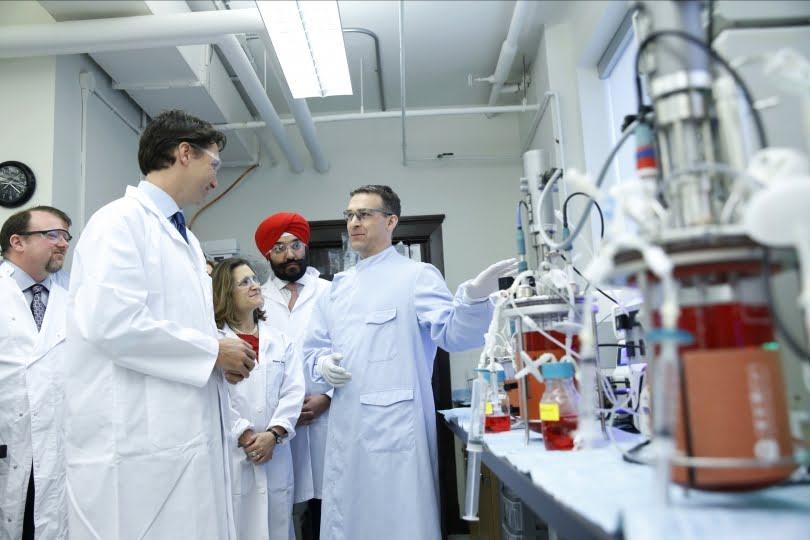 Canadian scientists Justin Trudeau