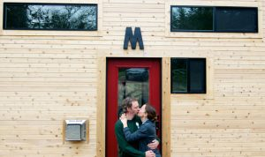 The Morrisons, of Oregon, moved into a 317-square-foot space with their teenage daughter. Photo by Andrew Morrison.